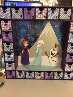 Frozen advent calendar (Kaiser Crafts)