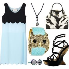 Resort/Owl/Blue, created by leiastyle on Polyvore