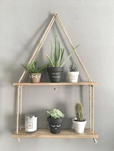 Diy Hanging Shelves, Wooden Shelves, Floating Shelves, Rope Shelves, Storage Shelves, Salon Shelves, Hanging Baskets, Baby Shelves, Decorative Shelves
