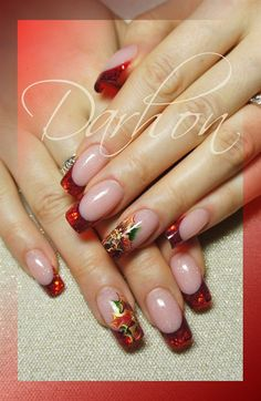 christmas french - Nail Art Gallery