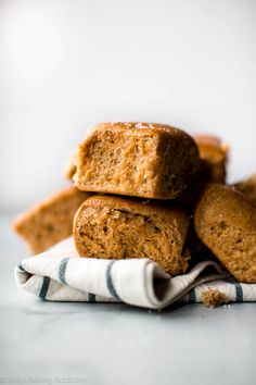 Soft, Hearty, And Sweet Honey Whole Wheat Dinner Rolls Recipe For Homemade Whole Wheat Rolls On Whole Wheat Rolls, Baked Rolls, Dinner Rolls Recipe, Sallys Baking Addiction, Bread Baking, Baking Recipes, Bread Recipes, Breads, Homemade