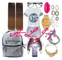 """DON'T LOOK BACK"" by ashanti7 on Polyvore featuring Aéropostale, Topshop, Converse, Versace, Oscar de la Renta, women's clothing, women, female, woman and misses"