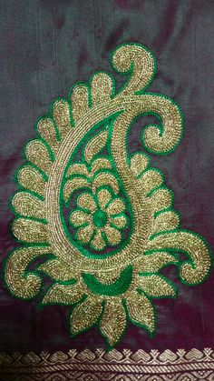 Ideas Embroidery Designs Simple Templates For 2020 Zardozi Embroidery, Hand Embroidery Dress, Embroidery Hearts, Embroidery Suits Design, Machine Embroidery Designs, Creative Embroidery, Embroidered Blouse, Hand Work Blouse Design, Simple Blouse Designs