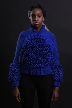 ZwitchZ Knitwear - Nymphai Merino Wool Jumper, the architect of nature's wild beauty. Wearable Avant-garde Knitwear, futuristic sculptural design for the contemporary women. #chunky #chunkyknit #knitwear #avant-garde #merino #wool #knit #womensfashion #style #futuristicfashion #art #design #knitwearbrand #fashionbrand #designer #editorialfashion