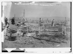 Ruins Ludlow Colony -- Trinidad, Colo. (LOC) by The Library of Congress The Ludlow Massacre was an attack by the Colorado National Guard and Colorado Fuel & Iron Company camp guards on a tent colony of 1,200 striking coal miners and their families at Ludlow, Colorado on April 20, 1914.  The massacre resulted in the violent deaths of between 19 and 25 people; sources vary but all sources include two women and eleven children, asphyxiated and burned to death under a single tent.
