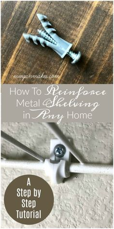 High-quality Homebuilding Magazine - An Excellent Assist In Dwelling Style And Design And Design How To Reinforce Metal Shelving In Any Home Home Crafts, Diy Home Decor, Diy Crafts, Small Apartment Closet, Wall Clips, Metal Shelves, Floating Shelves, Diy Fireplace, Home Repairs