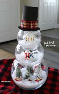 Oct 2019 - Are you looking for beautiful DIY Dollar Store Christmas decorations you can make for with your kids? Try these stunning Dollar Store Christmas Crafts to decorate your home in 2019 on a small budget! Snowman Crafts, Jar Crafts, Kids Crafts, Adult Crafts, Craft Stick Crafts, Creative Crafts, Creative Ideas, Dollar Store Christmas, Christmas Crafts