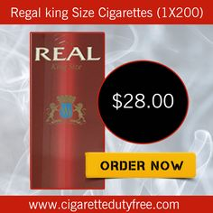 Regal king Size Cigarettes (1X200) - http://www.cigarettedutyfree.com/english/6-cartons-of-real-red-king-size-cigarettes.html