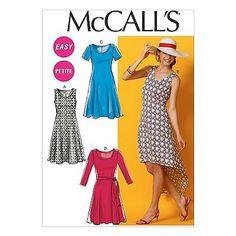M6957  Pullover Dress: for Lightweight to Medium-Weight Moderate Stretch Knits. FABRICS:Jerseys, Cotton Knit, Silk Spun Knit, Interlock.