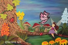 Fairy at the bottom of the garden....copies available or have me paint you an original...