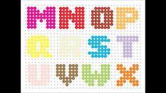 """Résultat de recherche d'images pour """"alphabet en perle hama"""""""