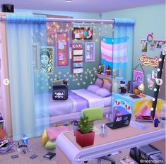 Sims 4 House Plans, Sims 4 House Building, Sims 4 Challenges, Sims 4 Anime, Sims 4 Bedroom, Sims 4 House Design, Sims 4 Collections, Casas The Sims 4, Sims 4 Toddler