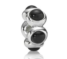 Pandora Black Friday 2013 Silver and Onyx Cabochon Charm 790538O