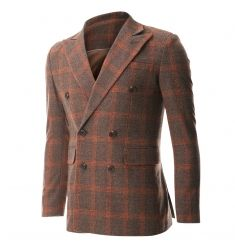 FLATSEVEN Men's Double Breasted Wool Blend Tweed Blazer Jacket with Peaked Lapel (BJ490) - Blazers #BLACKFRIDAY #CYBERMONDAY #MENS CLOTHING #MENSJACKET #MENSBLAZER #MENSFASHION #FASHIONFORMEN