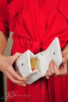 Старая туника плюс пакет от морса равно еще один вариант сумочки - Ярмарка Мастеров - ручная работа, handmade