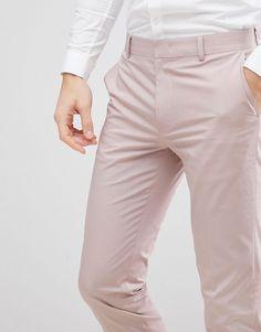 3 de 4 Asos, Costume Slim, Pantalon Costume, Skinny, Khaki Pants, Trousers, Costumes, Wedding, Design