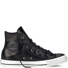 fa92ab10326e MINIMAL + CLASSIC: Chuck Taylor All Star Metallic black Converse Chuck  Taylor All Star,