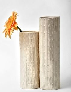 Knitted impression vases