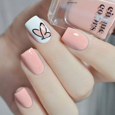 types of makeup nails art nailart - nail care types of makeup . - types of makeup nails art nail art – types of makeup nails art nail art care - Cute Spring Nails, Spring Nail Art, Summer Toenails, Cute Acrylic Nails, Acrylic Nail Designs, Gradient Nails, Pastel Nails, Teen Nail Designs, Coral Nails