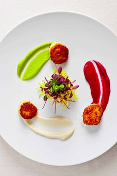 Seared Scallops Three Ways – Gremolata, Curried Cauliflower Puree, and Sabayon