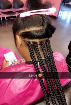 Micro Braids Curly Ends Natural Hair Style Braids