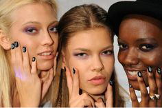 Global Galaxy manicure at @Nicole Miller S/S 13, created by CND #NYFW