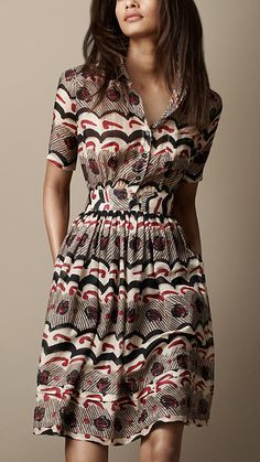 Printed Shirt Dress | Burberry. just when I thought I couldn't love Burberry more than I did...along comes this dress.