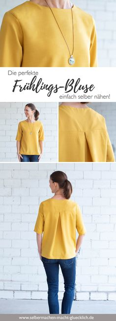 Blouse pattern for women - sew the perfect spring blouse yourself! - Just sew the perfect spring blouse yourself! You will find simpler sewing patterns for sc - patterns Picture For Women Blouse 2019 For Your Sewing Blogs, Sewing Hacks, Sewing Tutorials, Sewing Tips, Sewing Ideas, Spring Blouses, Blog Couture, Easy Sewing Patterns, Blouse Sewing Pattern