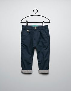 check trousers with turn-ups - Trousers - Baby boy (3-36 months) - Kids - ZARA