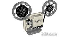 Projetor de Filmes Antigo para Decoração - 3D Warehouse