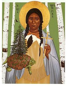 Blessed Catherine Tekakwitha, is honored by the Catholic Church as the patroness of ecology, nature, and the environment.