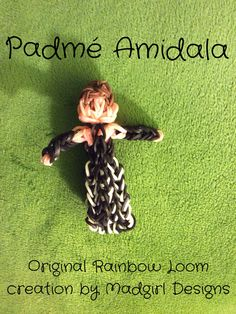 Padmé Amidala from Star Wars Episode II: Attack of the Clones, original Rainbow Loom creation by Madgirl Designs