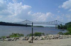Savanna-Sabula Bridge in Carroll County, Illinois.