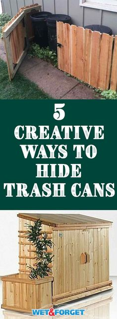 Trash cans are definitely the eyesore to anyone's home. Use one of these creative ways to hide them indoors and outdoors!