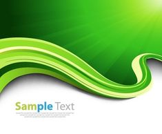 Green Ray and Wave Abstract Background Vector Illustration
