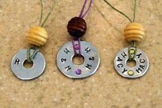 DIY washer jewellry. great fundraising idea. Tutorial
