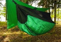 Camping gear Hennessy Hammock, better than a tent