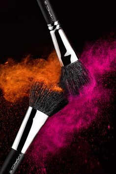 MAC brushes.  Photography by Greg Broom.