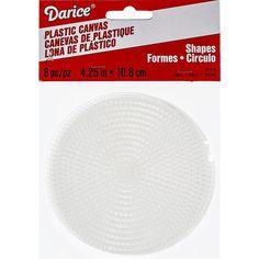 "Plastic Canvas Shapes 7 Count 4.25"" 8/Pkg-Circles Clear"