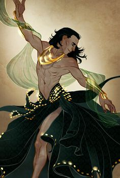 Interesting idea - So this is for Roo, because we kinda came up with this idea of Belly Dance Loki a couple of weeks ago (fic to be written pretty soon actually OH HO HO) and here is the end result. Mood music: Yearning by Raul Ferrando on Grooveshark Marvel Heroes, Marvel Dc, Heartbroken Girl, Thor X Loki, Loki Art, Avengers Art, Loki Laufeyson, Tom Hiddleston Loki, Belly Dancers