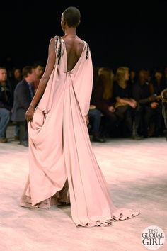 Front Row with The Global Girl at New York Fashion Week:  Red carpet worthy backless gown at David Tlale Fall Winter 2014 Runway Collection.