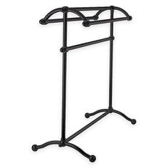 Kingston Brass 3-Tier Freestanding Towel Rack In Oil Rubbed Bronze - This Kingston Brass 3-Tier Freestanding Towel Rack combines beauty and style with practical and durable functionality as a handy bathroom accessory. It's decorative arc shape provides 3 bars on top for hanging several  towels in a stylish manner.
