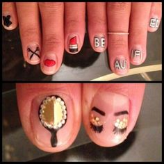 mani by mei kawajiri. beauty nail art. on DIVAlicious Blog.