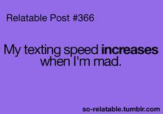 Texting speed