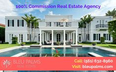 Highly experienced realtors service and needs  Looking for a 100% Commission Real Estate Agency in West Palm Beach? Welcome to BleuPalms ourselves offering a complete collection of real estate services, we ensure that we meet our clients every need. For more info call: (561) 632-8960 Visit: http://bleupalms.com/