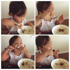 Just like her Daddy. Food Lover :) #miyabear
