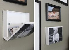 DIY: VHS cassette covers made into wall storage! So clever! Would be great in a bathroom for a first aid kit.