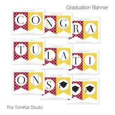 Graduation Printable Party Collection