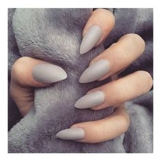 15 Showstopping Gray Nails ❤ liked on Polyvore featuring beauty products, nail care, nail treatments and nails