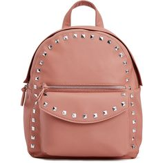 ShoeDazzle Bags Barnes Backpack Womens Pink ❤ liked on Polyvore featuring bags, backpacks, handbags, pink, wallets & cases, rucksack bags, red studded bag, red bags, backpack bags and red backpack